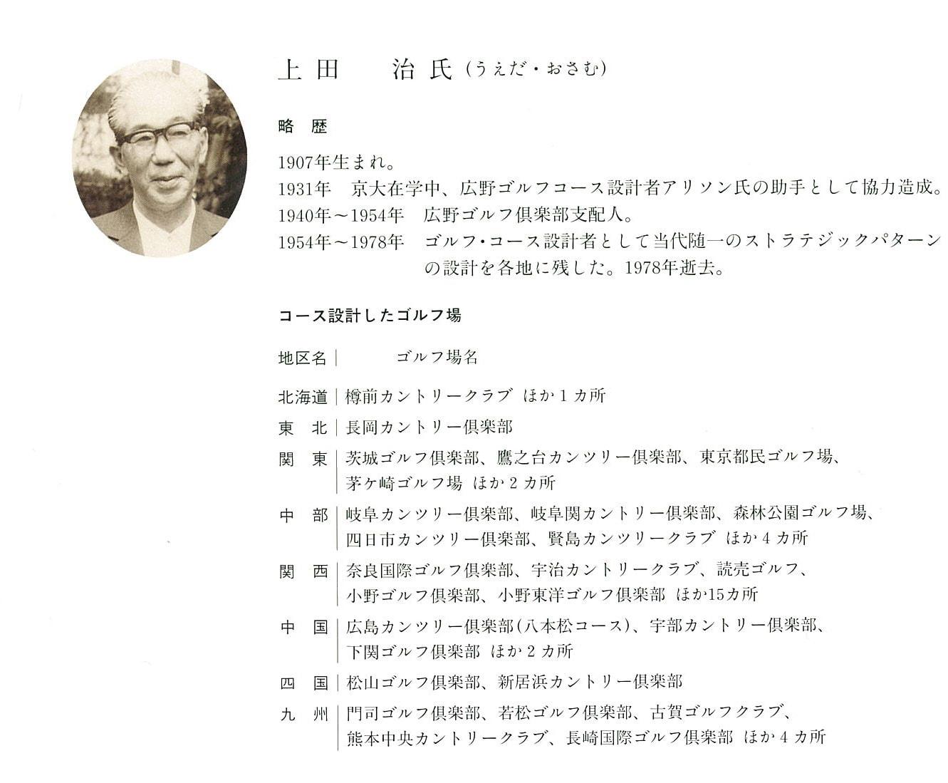 名設計家 上田 治